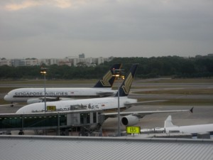 Two_Singapore_AirlinesAirbus_A380_at_Singapore_Changi_Airport